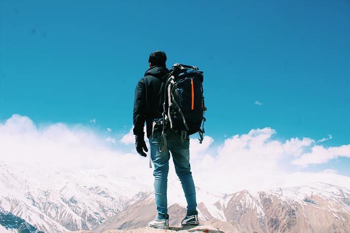 Ephoto-of-man-standing-on-top-of-mountain-2577274-Pawan-Yadav
