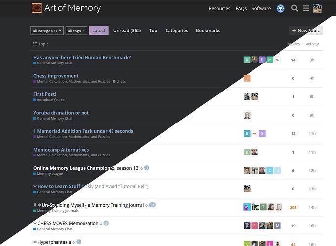 Dark mode for the forum