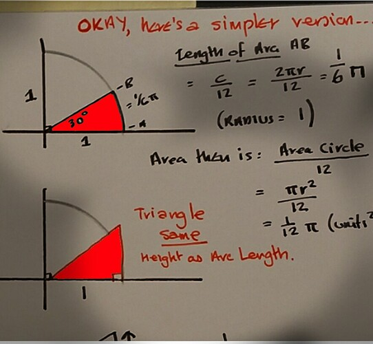 simple1areas are equal arc and triangle of same height as arc length1