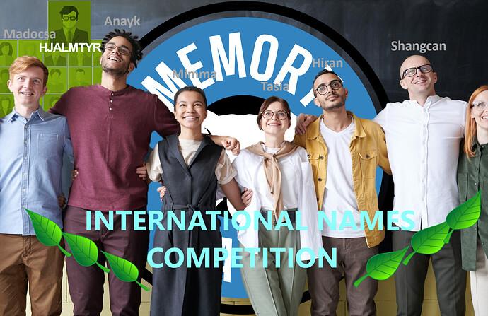 International names Competition! III