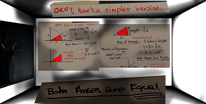areas are equal arc and triangle of same height as arc length1