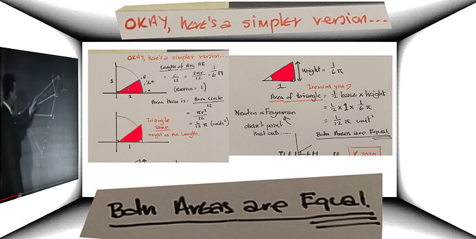 areas are equal arc and triangle of same height as arc length