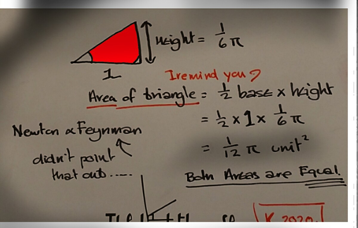 simple2areas are equal arc and triangle of same height as arc length1