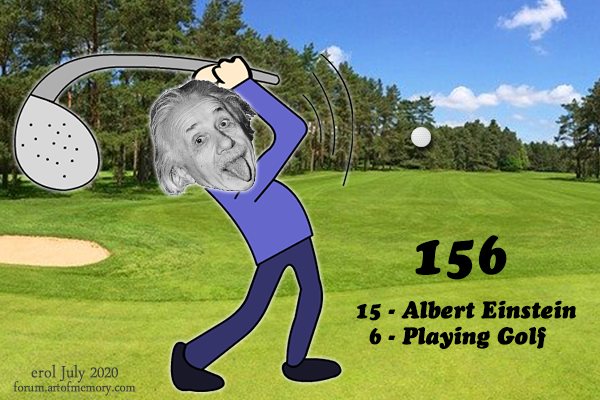 156-Albert-Einstein-Playing-Golf