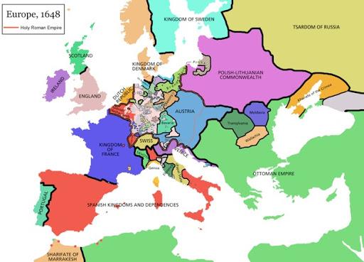 d'Hondecoeter - Europe 1648